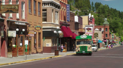 Deadwood Tour Bus Stock Footage