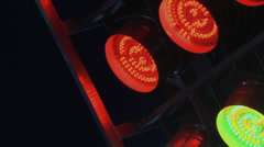 red and green led stage lights flashing loopable - stock footage