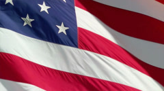 American Flag Blows in the Wind Stock Footage