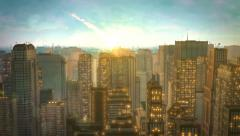 meteorite crash city hd - stock footage