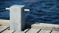 Stock Video Footage of mooring bollard