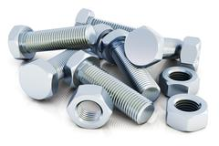 Bolts and nuts Stock Illustration