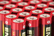 Stock Illustration of Macro view of AA batteries