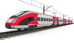 Modern high speed train Stock Illustration