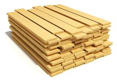 Stacked wooden planks Stock Illustration