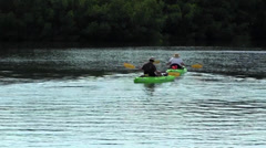 Closeup of kayakers in Tampa Bay Stock Footage