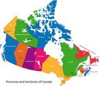 Stock Illustration of colorful canada map