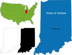 Indiana map Stock Illustration