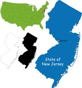 New jersey map Stock Illustration