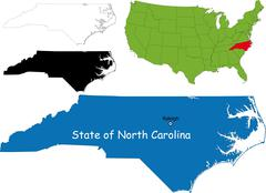 Stock Illustration of north carolina map
