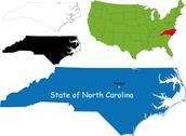 North carolina map Stock Illustration