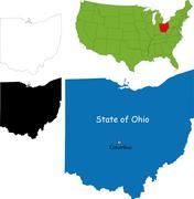 Ohio map Stock Illustration