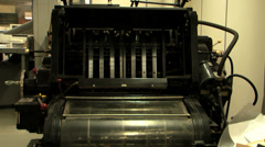 printing office old press zoom - stock footage