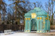 Stock Photo of trellised pavilion in park of royal palace sanssouci
