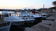 Stock Video Footage of Boats in Adriatic Harbor, Pan