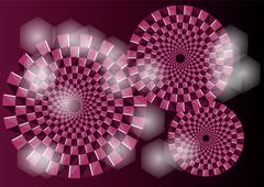 Purple optical illusion Stock Illustration