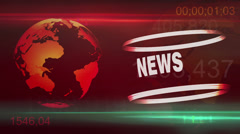 News Global background animation Stock Footage