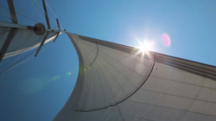 Sun in the sail Stock Footage