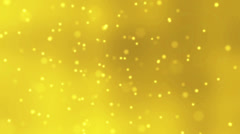 Golden Background with Floating Particles Stock Footage