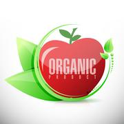 organic product apple illustration design - stock illustration