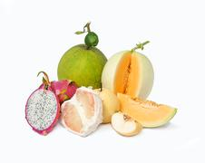 Many fruits Stock Photos