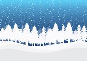 Stock Illustration of Christmas Winter Landscape