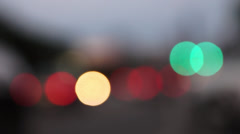 Night City Traffic Bokeh Stock Footage