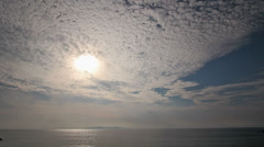 Clouds moving over the sea in Awashima Stock Footage