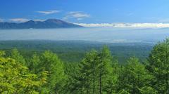 Mount Asama and Yachiho Plateau Stock Footage