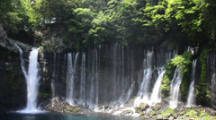 Shiraito No Taki Waterfall, Shizuoka, Japan Stock Footage