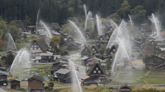 Shirakawa-go , Gifu, Japan Stock Footage