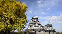 Kumamoto Castle, Kumamoto, Japan Stock Footage