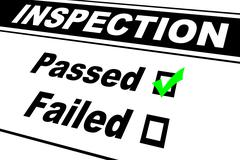 Inspection Results Passed Stock Illustration