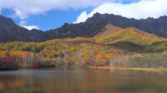 Kamaike Lake, Nagano, Japan Stock Footage