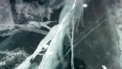 Deep Ice breaks - stock footage