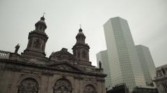 The Metropolitan Cathedral of Santiago Stock Footage