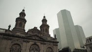 Stock Video Footage of The Metropolitan Cathedral of Santiago