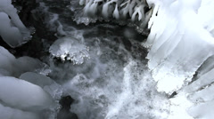Ice in Stream, Chino, Nagano, Japan Stock Footage