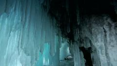 Ice cave - stock footage