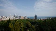 Overlooking urban & sea skyline,china QingDao(tsingtao). Stock Footage