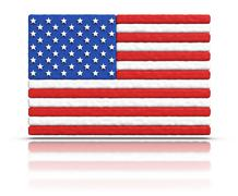 flag of the united states - stock illustration