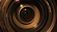 Stock Video Footage of Video Camera Lens Close Up