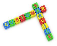 Stock Illustration of crossword puzzle : customer service