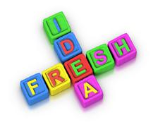 Crossword puzzle : fresh idea Stock Illustration