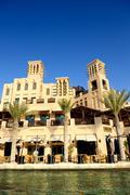 dubai, uae - september 9: view of the souk madinat jumeirah. madinat jumeirah - stock photo