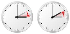Time change daylight saving time and standard time Stock Illustration