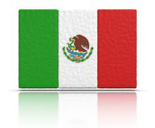 flag of mexico - stock illustration