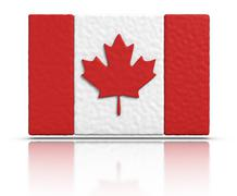 flag of canada - stock illustration