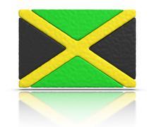 flag of jamaica - stock illustration