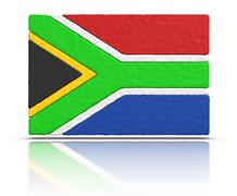 Flag of south africa Stock Illustration